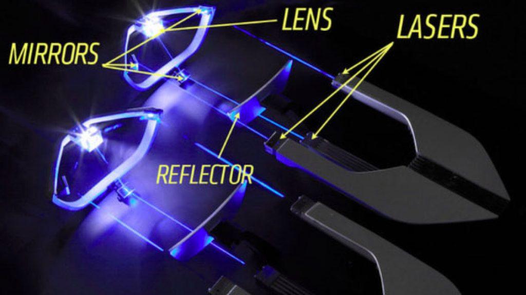 car laser lights how work