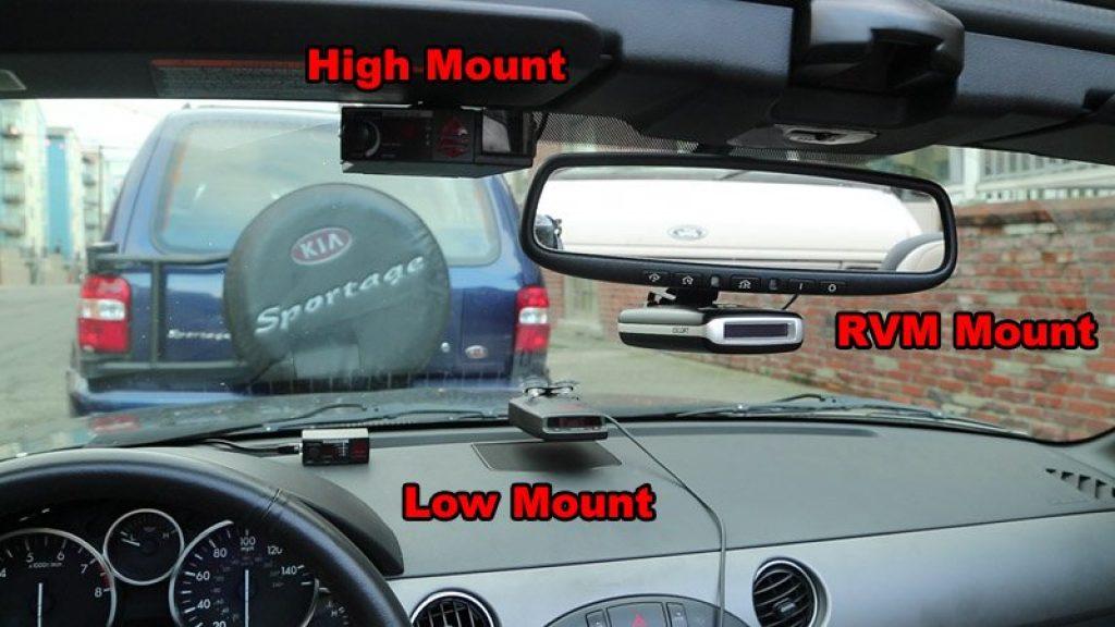 where to mount radar scanner