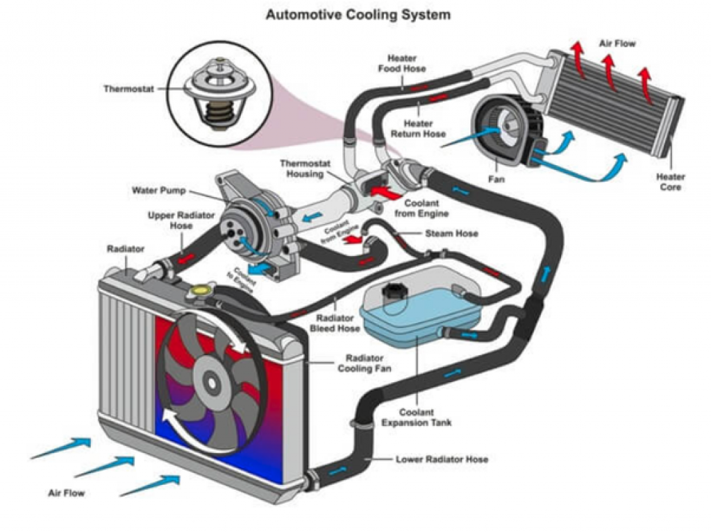 how does the car cooling system work