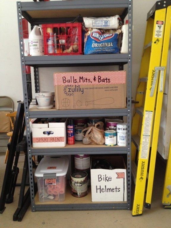 garage storage labeling