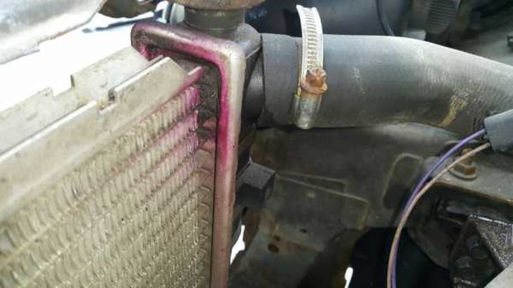 radiator leak car