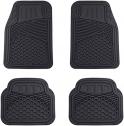 Amazon Basics 4 Piece Heavy Duty Car Floor Mat, Black