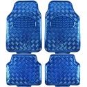 BDK MT-641-BL Universal Fit 4-Piece Set Metallic Design Car Floor Mat
