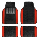 FH Group F14407RED Premium Full Set Carpet Floor Mat