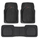 Motor Trend MT-923-BK Black  Rubber Floor Mats