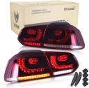 Rear Lamp For 08-13 VW Golf MK6 GTI GTD R20 Red Smoked